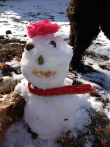 Jeanne Berman's snowman In the running for Most Creative.