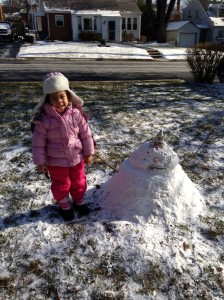 Jianni Lockley's Snowman in the running for Most Creative.