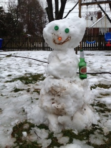 The Wilson Family Snowman in the running for Biggest or Most Creative.